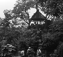 BW China Shanghai Yuyuan garen 1970s by blackwhitephoto