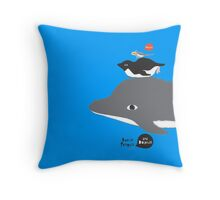 FUNNY BREMEN TOBOGGAN Throw Pillow