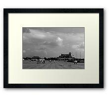 BW China pekin Tiananmen square 1970s Framed Print