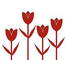 Tulips in Red by Baharcreative