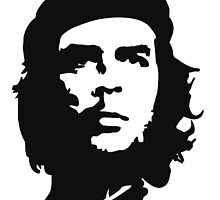 CHE, Che Guevara, Revolution, Marxist, Revolutionary, Cuba, Power to the people! Black on White by TOM HILL - Designer