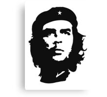 CHE, Che Guevara, Revolution, Marxist, Revolutionary, Cuba, Power to the people! Black on White Canvas Print