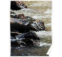 Arizona River Rocks Poster