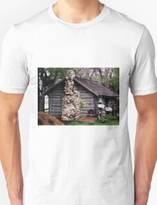 Rustic Log Cabin Unisex T-Shirt