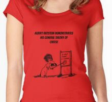 The General Theory of Cheese  Women's Fitted Scoop T-Shirt
