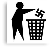anti nazi human respect against racism Canvas Print