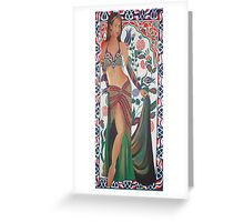 Beautiful Exotic Belly Dancer Woman Greeting Card