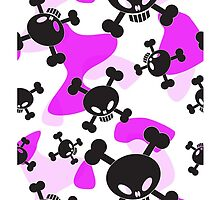 Skulls, crossbones and Pink Camouflage  by crashtackle