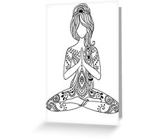Yoga Om Chakras Mindfulness Meditation Zen 3 Greeting Card