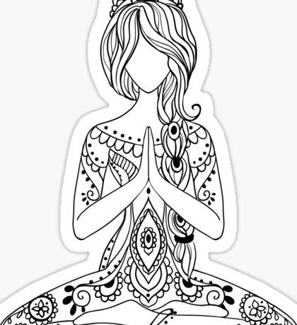 Yoga Om Chakras Mindfulness Meditation Zen 3 Sticker