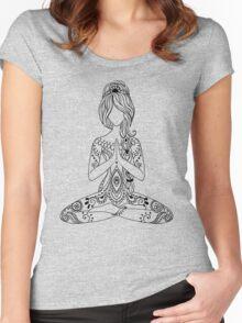 Yoga Om Chakras Mindfulness Meditation Zen 3 Women's Fitted Scoop T-Shirt