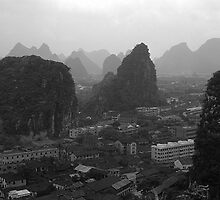 BW China Guilin city 1970s by blackwhitephoto