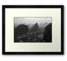 BW China Guilin city 1970s Framed Print