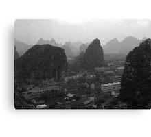 BW China Guilin city 1970s Canvas Print
