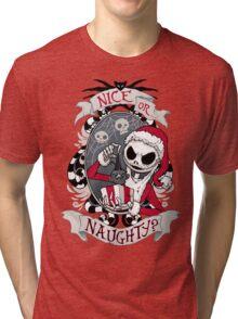 Scary Santa Tri-blend T-Shirt