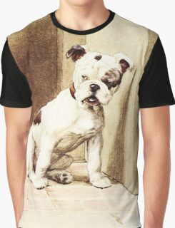 Cute Bulldog illustration Graphic T-Shirt