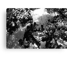 BW China Canton restaurant 1970s Canvas Print