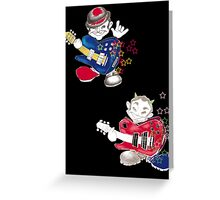 two guitarists Greeting Card
