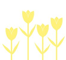 Tulips in Yellow by Baharcreative