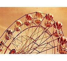 Redscale Ferris Wheel Photographic Print