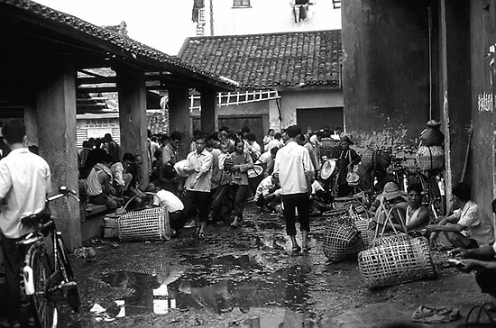 BW China changsha market 1970s by blackwhitephoto