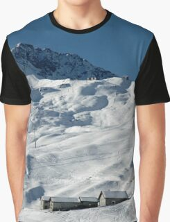 Swiss Winter Snow Scene Graphic T-Shirt