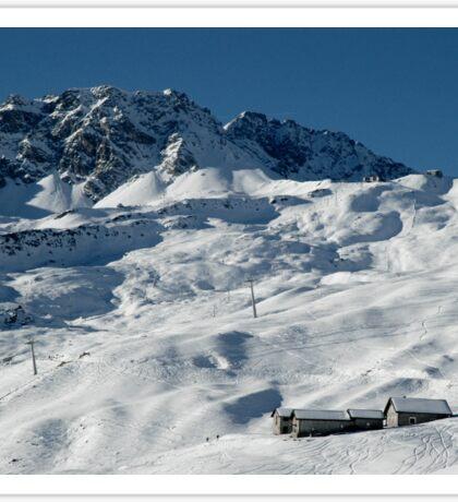 Swiss Winter Snow Scene Sticker