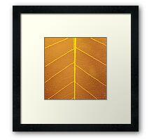 Leaf decoration Framed Print