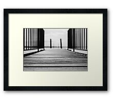 Bridge to the blurred water Framed Print