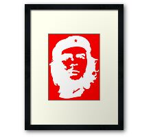 Che, Guevara, Rebel, Cuba, Peoples Revolution, Freedom, in white Framed Print