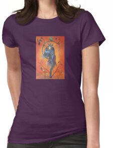 Gamaun The Prophetic Bird With Ruffled Feathers Womens Fitted T-Shirt