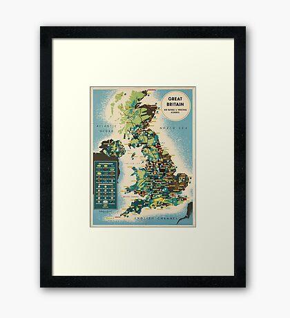 Vintage poster - Great Britain Framed Print