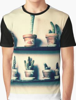 CACTUS IN ROW!!! Flowers Graphic T-Shirt