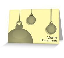 Yellow Baubles Greeting Card