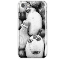 THERE IS A FUNNY FACE POTATO THERE!!! Food in B&W  iPhone Case/Skin