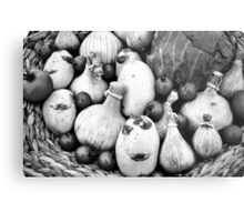 THERE IS A FUNNY FACE POTATO THERE!!! Food in B&W  Metal Print