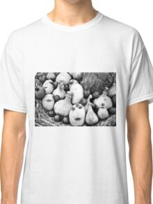 THERE IS A FUNNY FACE POTATO THERE!!! Food in B&W  Classic T-Shirt