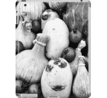 THERE IS A FUNNY FACE POTATO THERE!!! Food in B&W  iPad Case/Skin