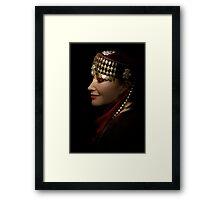 portrait of a gypsy woman Framed Print