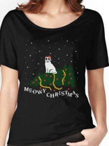 meowy christmas - cat vs. tree Women's Relaxed Fit T-Shirt
