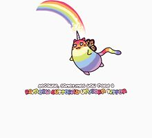Rainbow Butterfly Unicorn Kitten Unisex T-Shirt