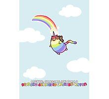 Rainbow Butterfly Unicorn Kitten Photographic Print