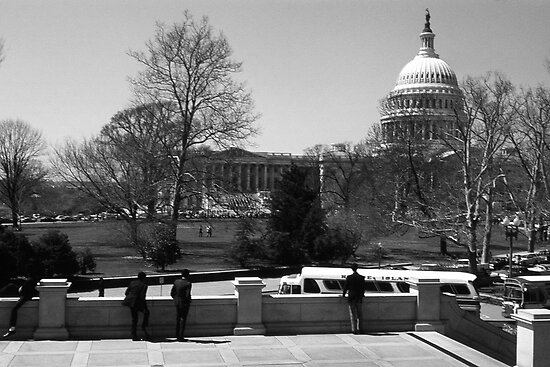 BW USA Washington The Capitol 1970s by blackwhitephoto