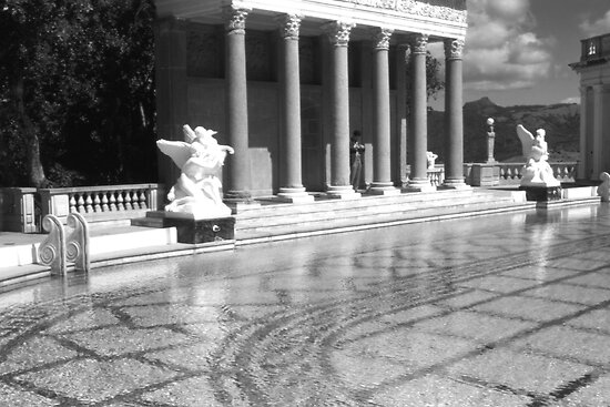 BW USA California San Simeon Neptune pool 1970s by blackwhitephoto