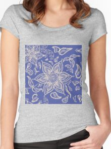 Abstract seamless floral pattern  Women's Fitted Scoop T-Shirt