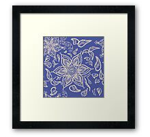 Abstract seamless floral pattern  Framed Print