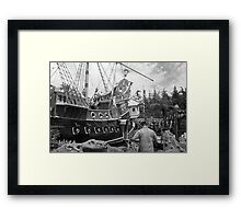 BW USA California Disneyland sailing boat 1970s Framed Print