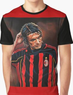 Paolo Maldini painting Graphic T-Shirt