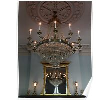 Chandelier Refelctions Poster