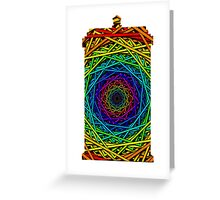 Doctor Who's TARDIS - Rainbow Vortex Abstract Greeting Card